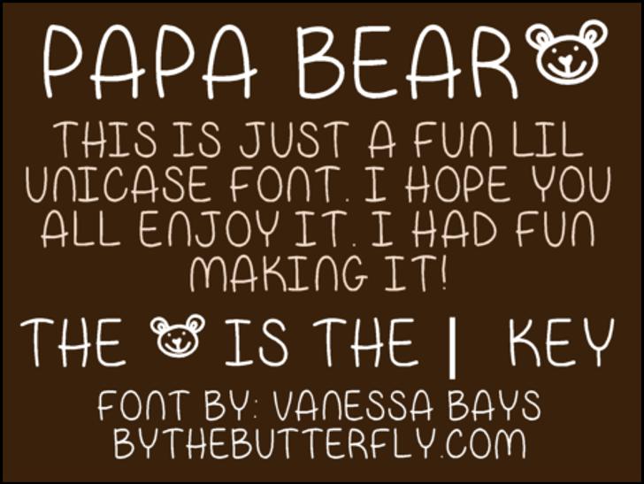 Papa Bear Font handwriting text