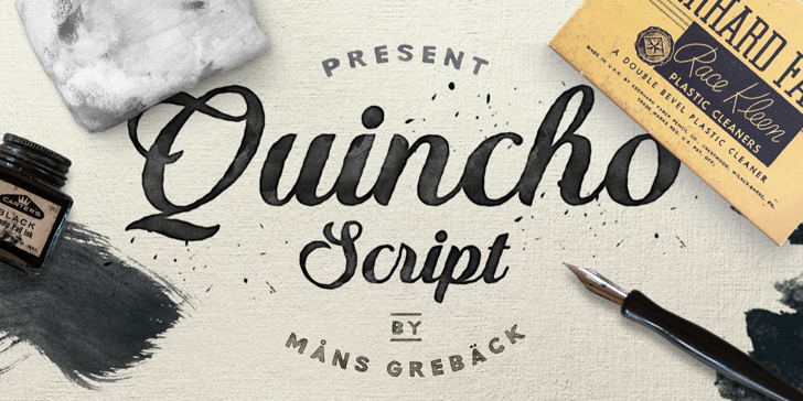 Quincho Script PERSONAL USE Font handwriting book