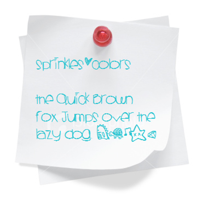 Sprinklescolors Font design handwriting