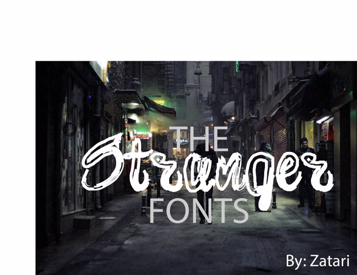 brush Font screenshot