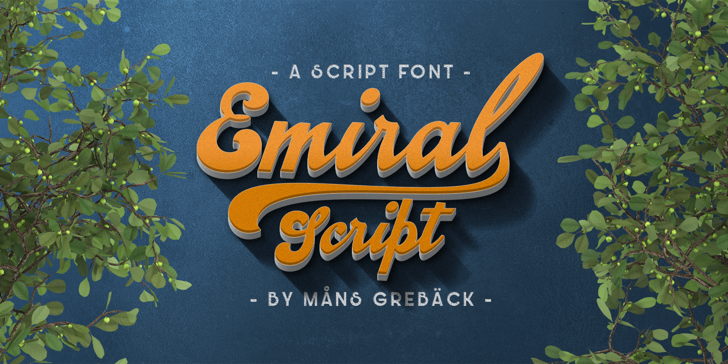 Emiral Script PERSONAL USE Font tree poster