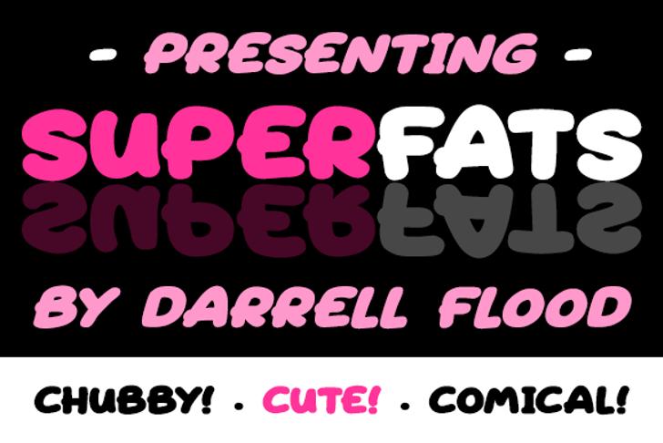 Superfats Font cartoon poster