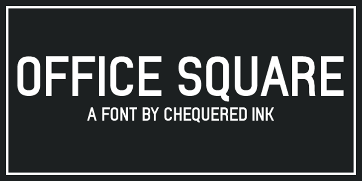 Office Square Font screenshot design