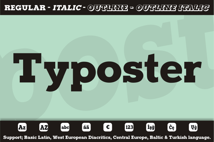 Typoster Font design graphic