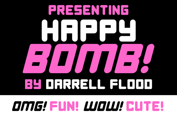 Happy Bomb Font poster graphic