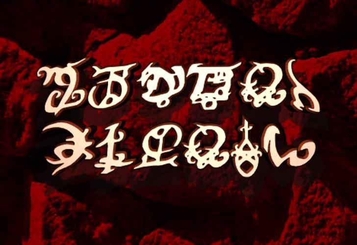 Devil's Tongue Font poster