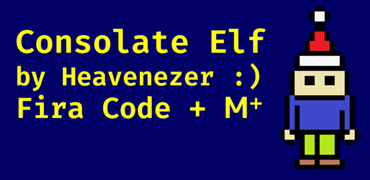 Consolate Elf Font poster