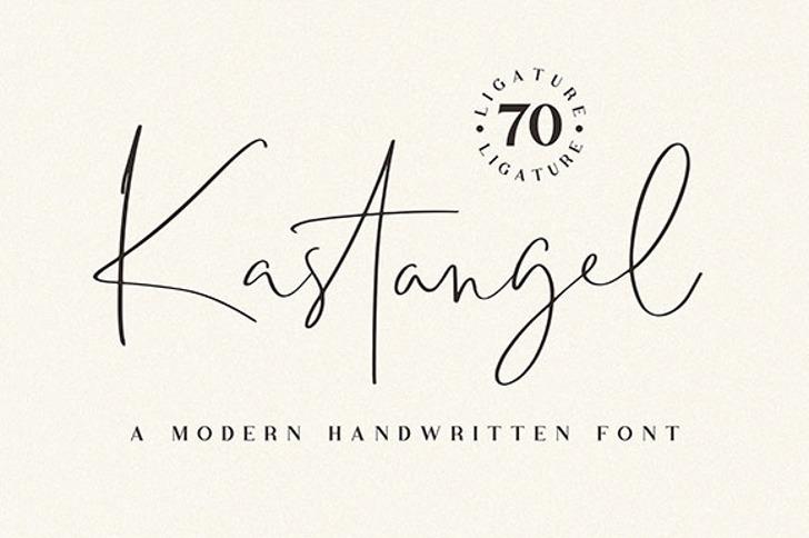 Kastangel Font poster