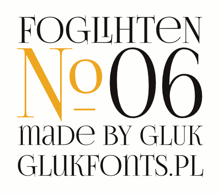 FoglihtenNo06 Font design screenshot