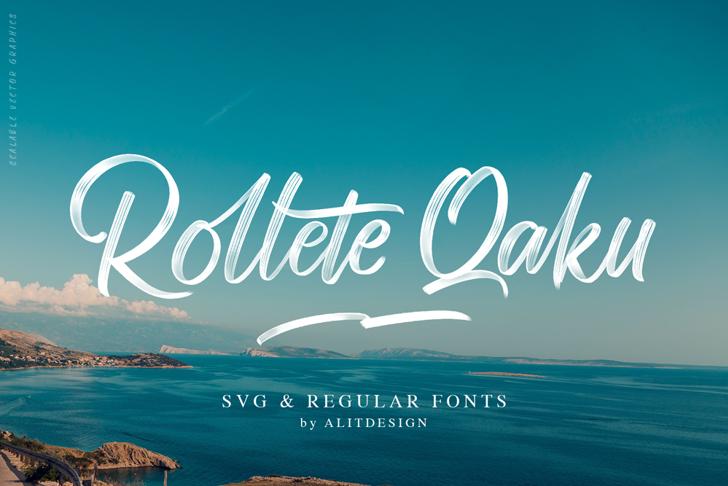 Rollete Qaku Font text design