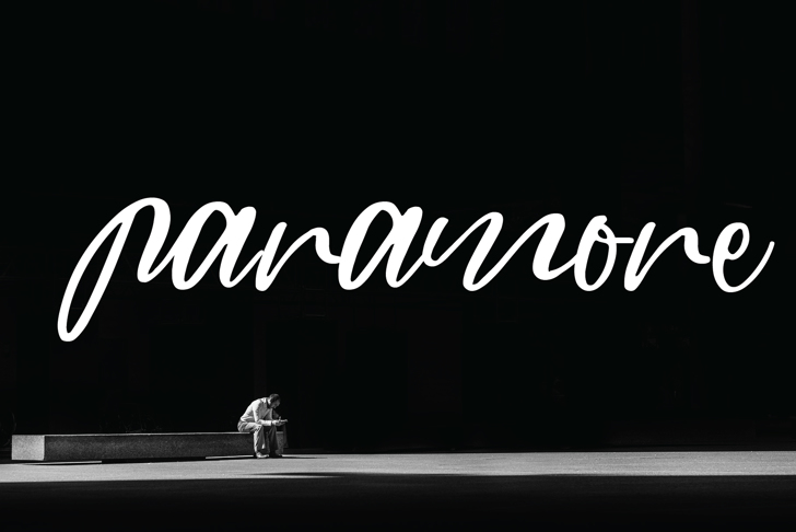 paramore Font poster