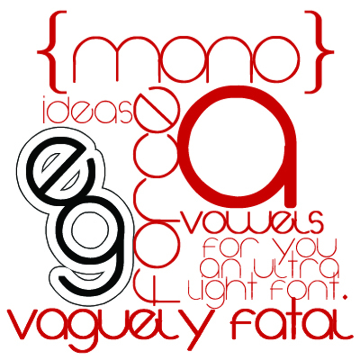 Vaguely Fatal Font design circle
