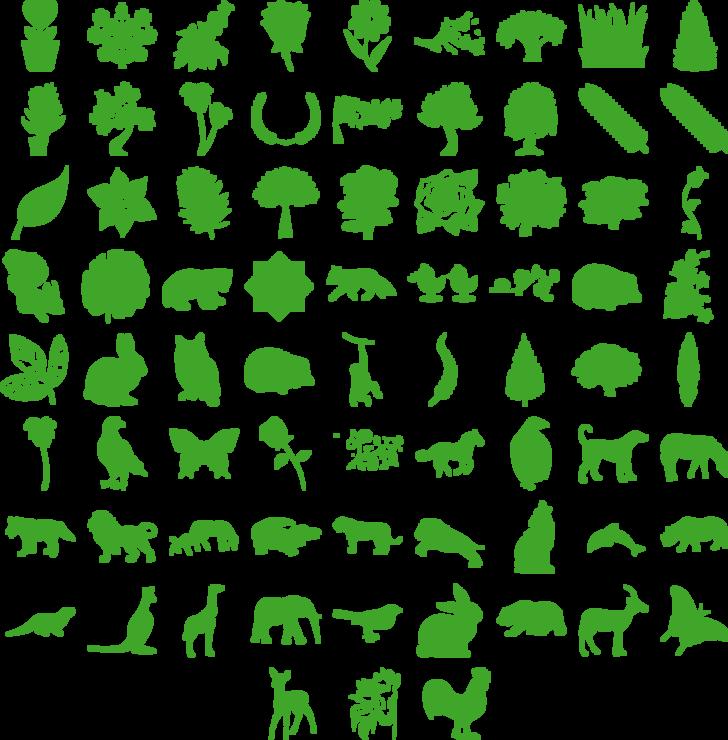Nature Pro Font illustration cartoon