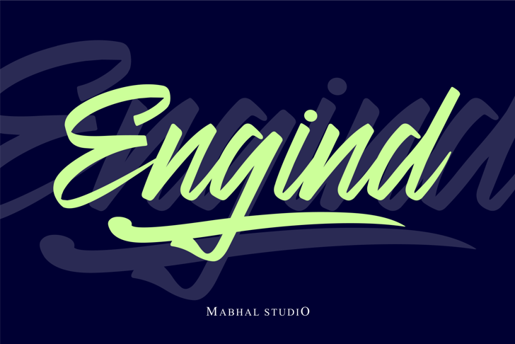 Engind Font poster