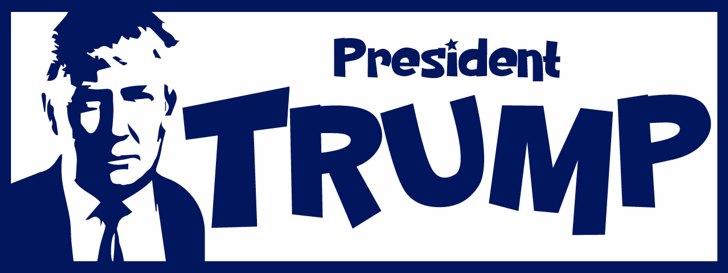PresidentTrump Font design graphic
