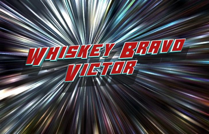 Whiskey Bravo Victor Font screenshot fireworks