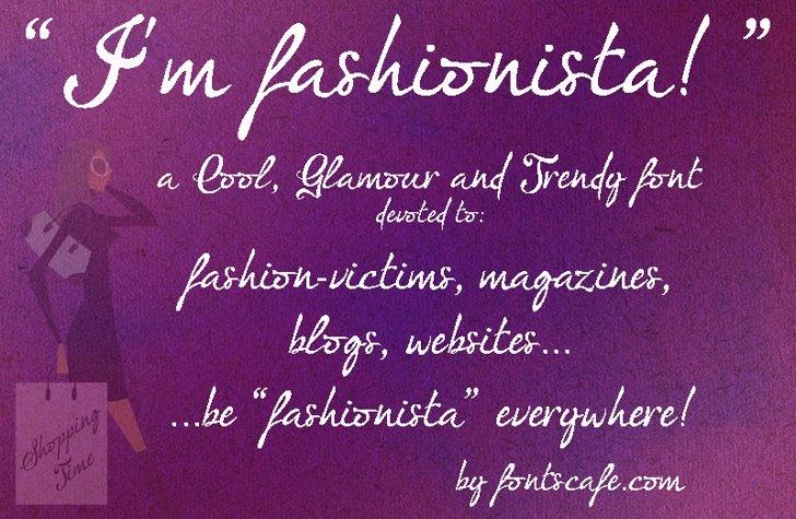 I'm fashionista!_FREE-version Font handwriting text