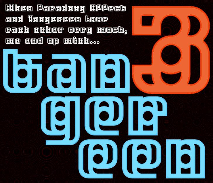 Tangereen 3 Font poster