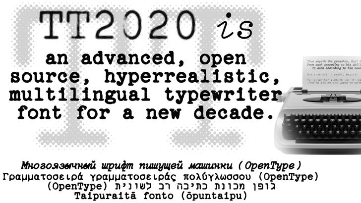 TT2020 Style E Font poster
