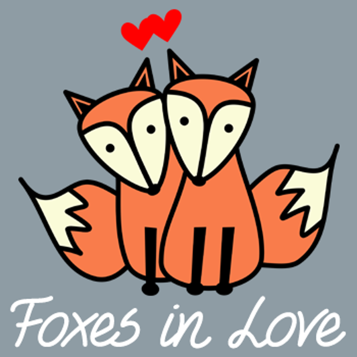 Foxes In Love Font cartoon design