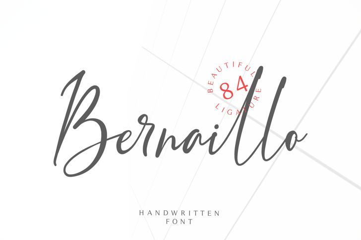 Bernaillo Font poster