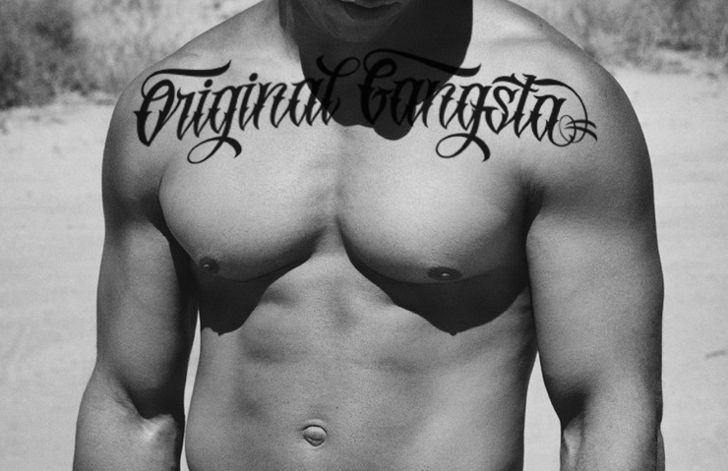 Original GangstA Font person chest