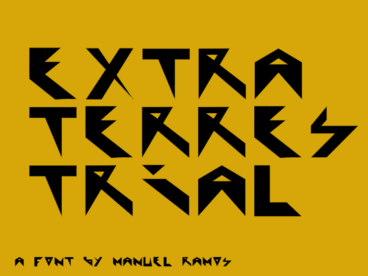 Extraterrestial Font design graphic