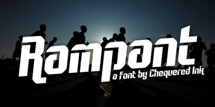 Rampant Font person sky