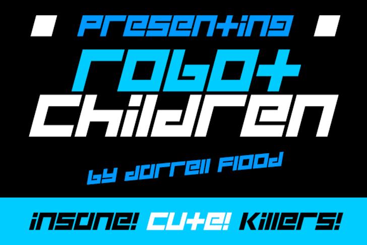 Robot Children Font screenshot poster