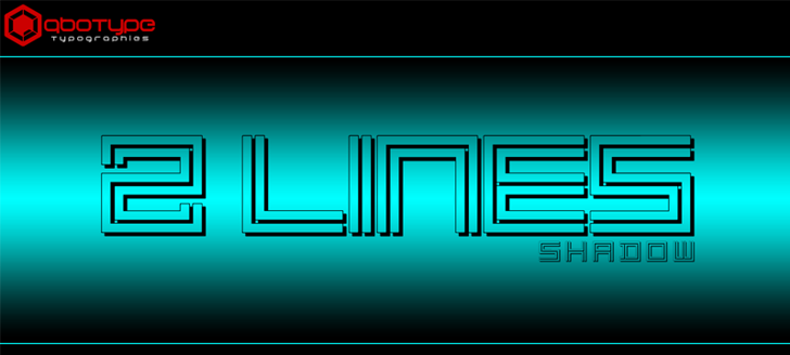 2 Lines shadow Font geometry design