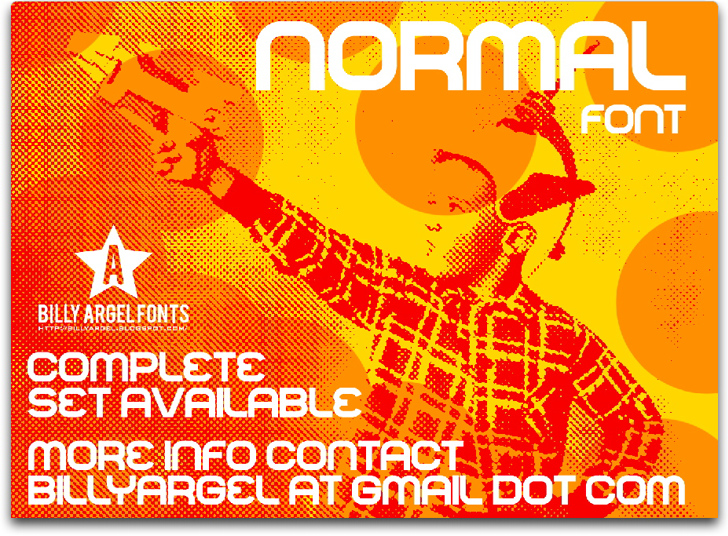 NORMAL Font poster text