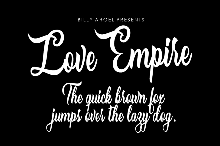 Love Empire Personal Use Font text typography