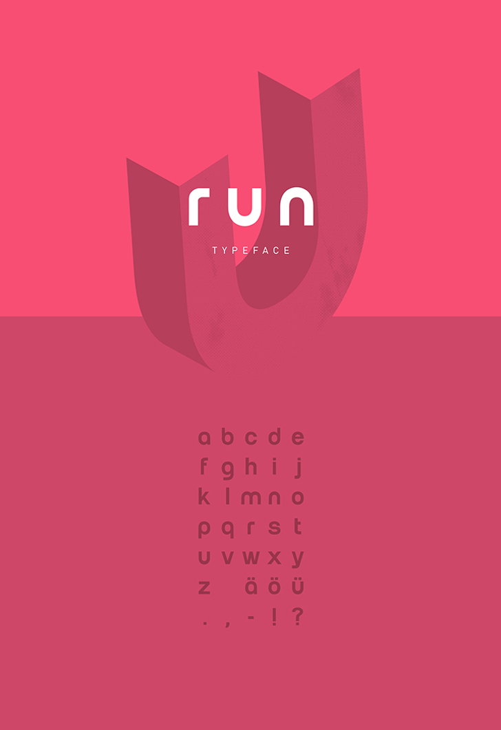Run Font screenshot design