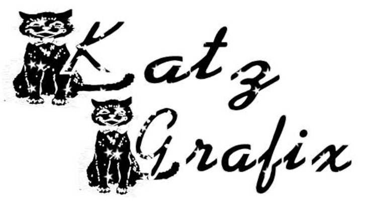KG BLACKAT Font drawing cartoon