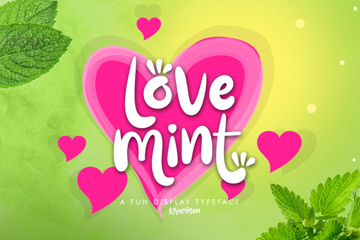 Love Mint Font design
