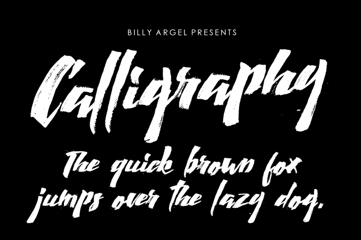 Calligraphy Font text handwriting