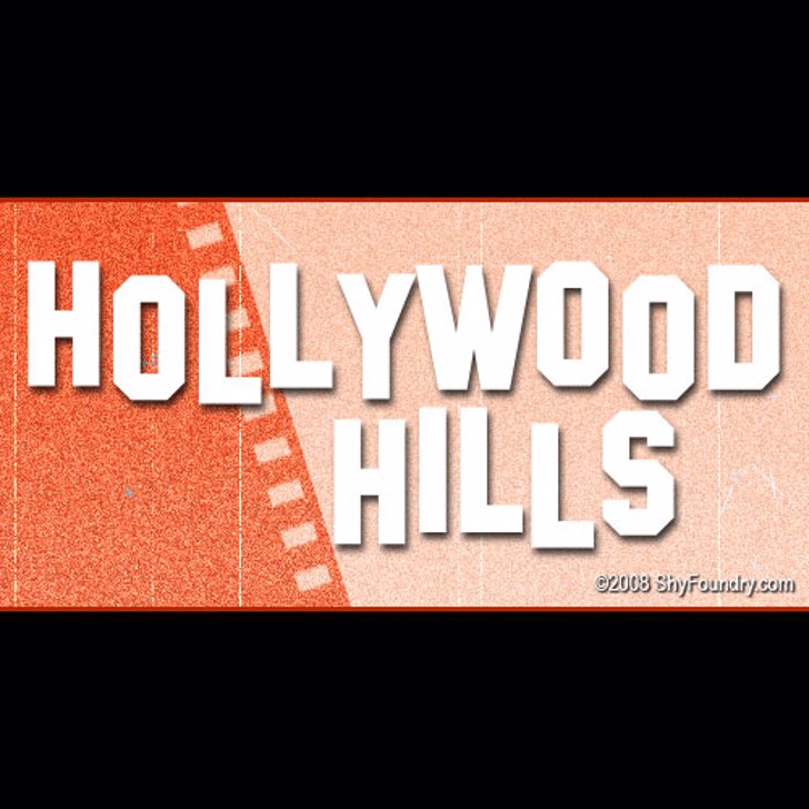 SF Hollywood Hills Font design screenshot