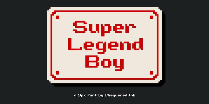 Super Legend Boy Font design