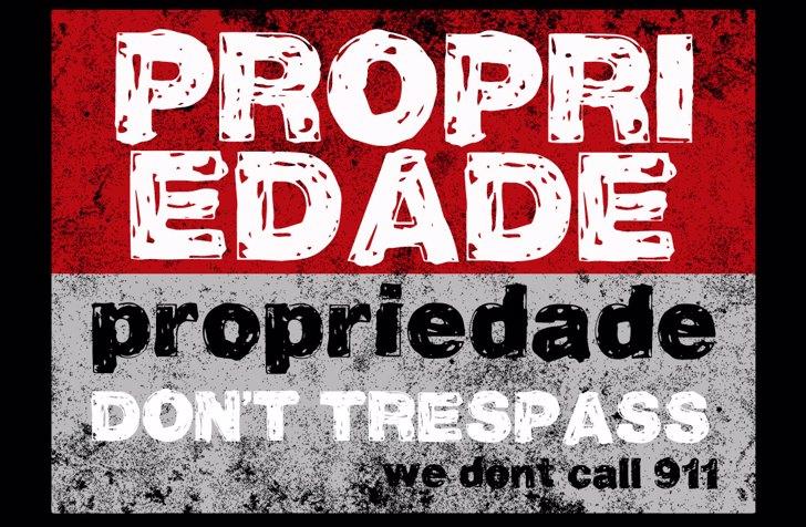 Vtks Propriedade Font poster text