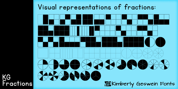 KG Fractions Font pattern abstract
