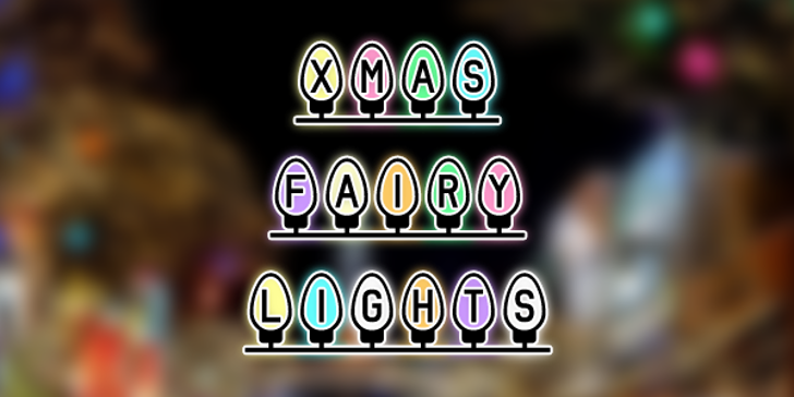 Xmas Fairy Lights Font screenshot design