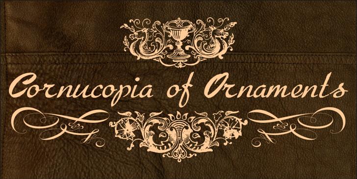 Cornucopia of Ornaments Font pattern design