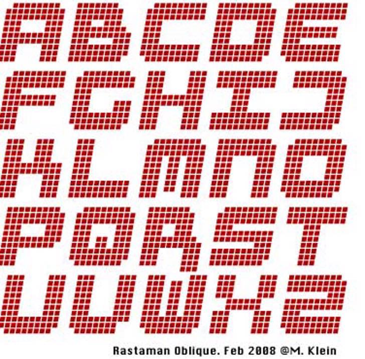 RastaManOblique Font pattern