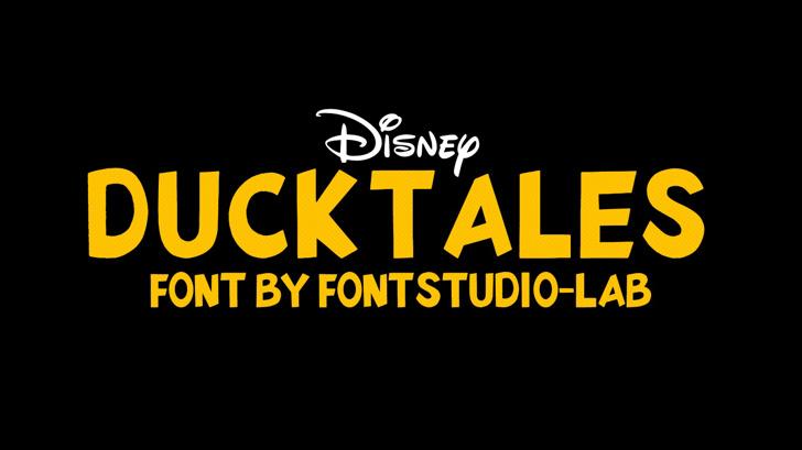 DuckTales Font design graphic