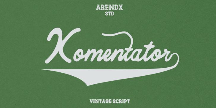 Komentator Font design