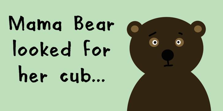 DK Mama Bear Font cartoon animal