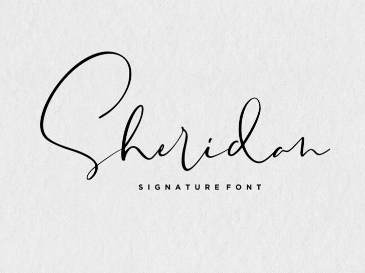 Sheridan Font poster