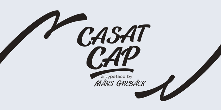 Casat Cap Bold PERSONAL USE Font design typography