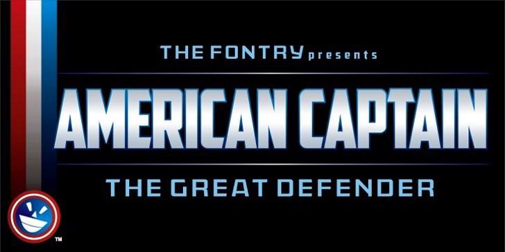 American Captain Font screenshot text