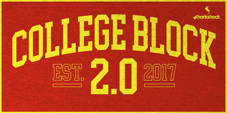 College Block Font poster book